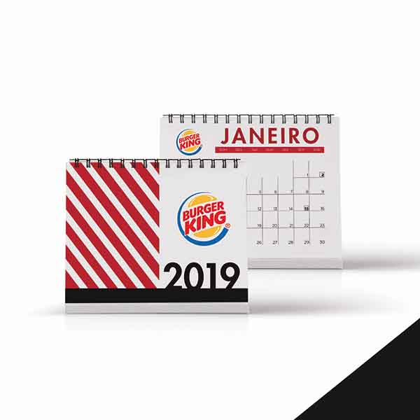 Modelos de calendários 2019
